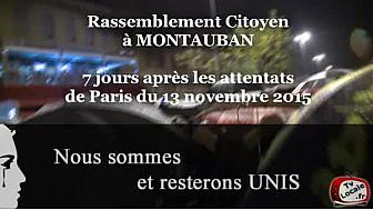 Rassemblement Citoyen de Montauban le 20 novembre 2015 #TvLocale_fr #Montauban #RestonsUnis