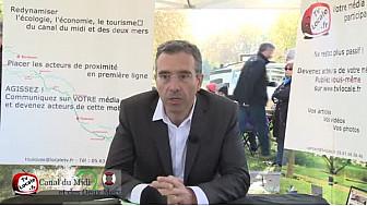 Dominique Reynié candidat LR aux Elections Régionales 2015 Midi-Pyrénées/Languedoc-Roussillon parle du Canal du Midi @DominiqueReynie #TvLocale_fr