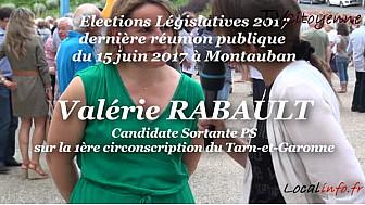 Meeting d'entre deux tours de Valérie RABAULT candidate sortante PS en Tarn-et-Garonne sur la 1ère circonscription #Valerie_Rabault