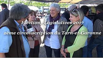 Elections Législatives Tarn-et-Garonne: Françoise TARDIN candidate Front de Gauche sur la 2ème circonscription, au micro de Michel Lecomte de Localinfo.fr