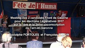 Françoise TARDIN et Rodolphe PORTOLES candidats aux Législatives sur la 1ère et la 2ème en Tarn-et-Garonne tenaient meeting