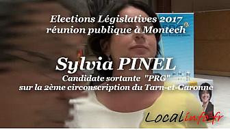 Sylvia PINEL candidate Sortante PRG sur la 2ème circo du Tarn-et-Garonne tenait meeting à Montech le 7 juin 2017