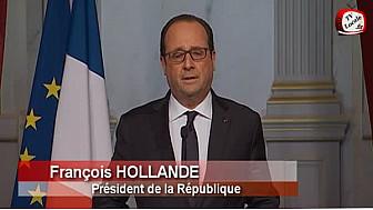 Attentats terroristes à Paris : déclaration du Président Hollande