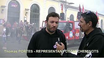 #Manifestation Intersyndicale de la fonction publique à @Montauban le 22 mai 2018 : Interview de Thomas Portes de la #CGT #cheminots du @Tarn-et-Garonne