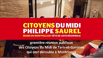 Citoyens du Midi de Tarn-et-Garonne à Montricoux (82) @MidiCitoyens #Régionales2015