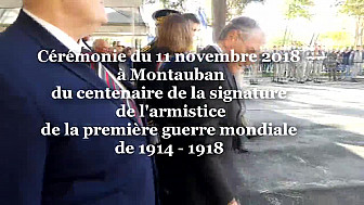 Cérémonie du 11 novembre 2018 centième anniversaire de l'Armistice de la Première Guerre Mondiale de 14-18 @Montauban @Prefet_82 @Smartrezo