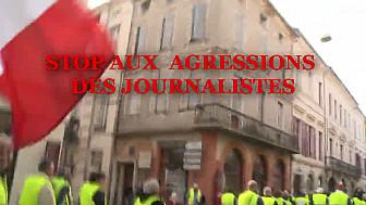 Les Gilets Jaunes de Montauban le 1 décembre 2018: Stop aux Agressions des Journalistes ... quand une dizaine de personnes détruisent le mouvement citoyen de 2 000 personnes