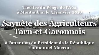 Pièce de Théâtre jouée par des Agriculteurs en Colère à l'attention du Président de la République Emmanuel MACRON @Occitanie @tarnetgaronne_CG @FNSEA