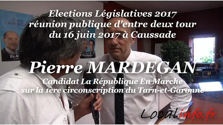 Meeting d'entre deux tours de Pierre MARDEGAN République En Marche à Caussade en Tarn-et-Garonne sur la 1ère circonscription #PierreMardegan