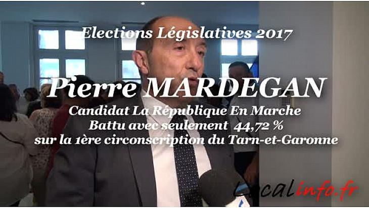 Défaite de Pierre MARDEGAN candidat République En Marche avec 44,72% sur la 1ère circonscription du Tarn-et-Garonne