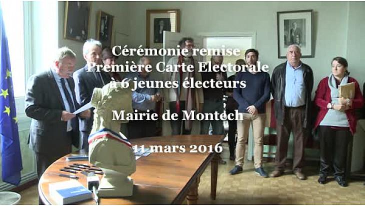 Jean-Michel DELVERT sous-préfet de Montauban à la remise de la Première Carte d'Electeur pour 6 jeunes Citoyens de Montech #Citoyenneté #TvLocale_fr