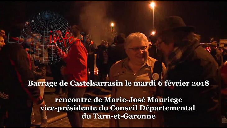 Carte Zones Défavorisées rencontre de Marie-José MAURIEGE vice-présidente du Conseil Départemental du Tarn-et-Garonne au barrage  de Castelsarrasin @FDSEA @tarneetgaronne_CG