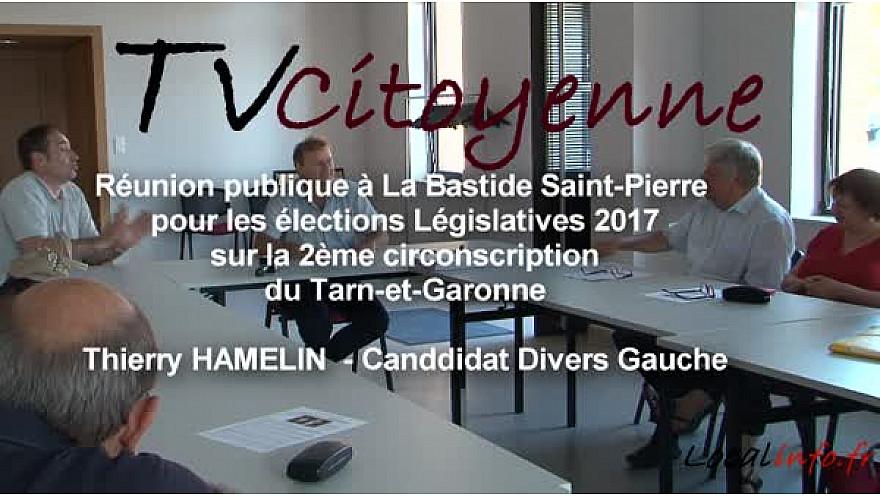 Elections Législatives 2017 en Tarn-et-Garonne: Thierry HAMELIN candidat divers gauche sur la 2ème circonscription reçoit un soutien de poids de Jérôme Beq maire LR