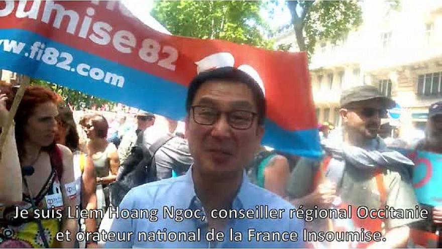 #MareePoupulaire du 26 Mai @Toulouse - Interview de Liem Hoang Ngoc, conseiller régional occitanie de la France Insoumise