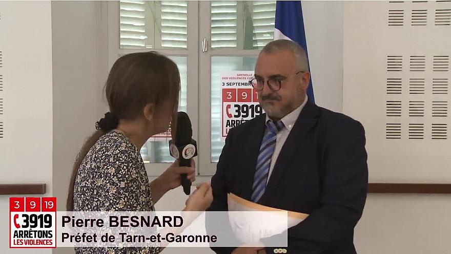 Grenelle Violences Conjugales : Pierre Besnard, Préfet de Tarn-et-Garonne explique '3919 Arrêtons les Violences'#GrenelleViolencesConjugales @Prefet_82 @MarleneSchiappa