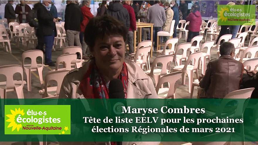 ITW de Maryse Combres élue EELV à la Région Nouvelle Aquitaine @MaryseCombres #NouvelleAquitaine @EELV