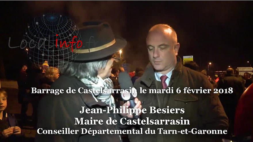 Jean-Philippe Bersiers Maire de Castelsarrasin et Conseiller Départemental du Tarn-et-Garonne aux cotés des Agriculteurs des Zones Défavorisées @tarnetgaronne_CG @FNSEA