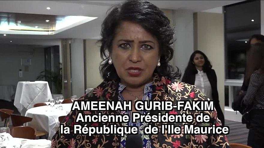 Itw d'Ameenah GURIB-FAKIM ancienne Présidente de la République de l'île Maurice à la Conférence du C.E.P.S au siège de l'UNESCO à Paris. @aguribfakim