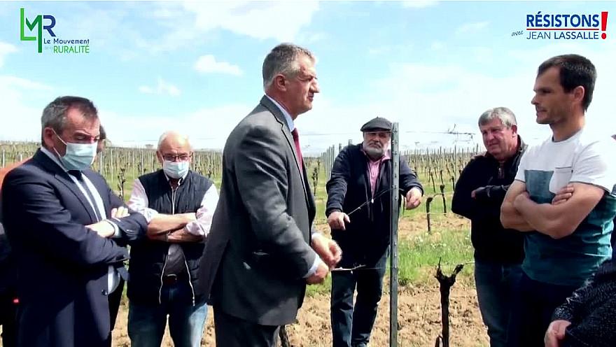 Résistons! de Jean Lassalle soutien les agriculteurs durement sinistrés par les épisodes de gel @jeanlassalle @ResistonsFrance