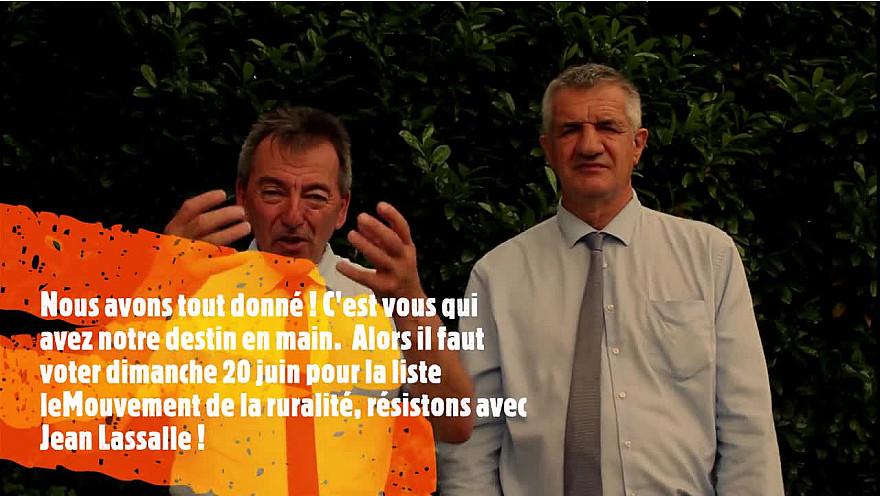 Jean Lassalle et Eddie Puyjalon élections régionales de Nouvelle-Aquitaine