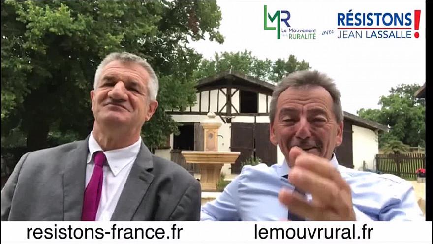 Eddie Puyjalon Président de LMR et Jean Lassalle Président de Résistons sortent ensemble la tête Haute des élections régionales 2021 @EddiePuyjalon @jeanlassalle