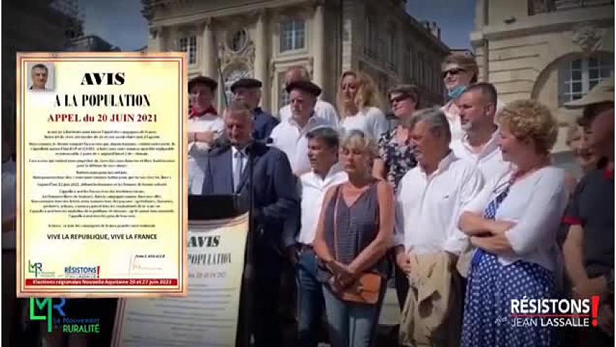 L'appel du 20 juin pour les campagnes de France grande cause nationale par Jean Lassalle à Bordeaux