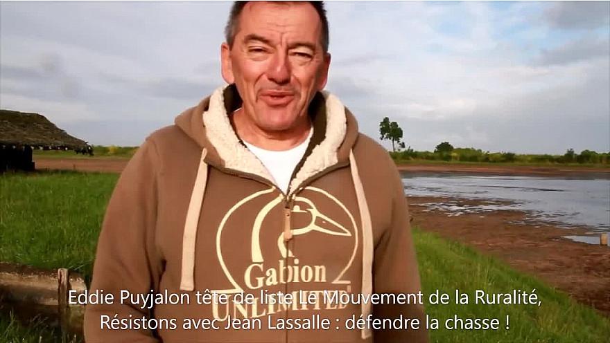 La défense de la chasse en Nouvelle-Aquitaine avec la liste Le Mouvement de la ruralité, Résistons avec Jean Lassalle.